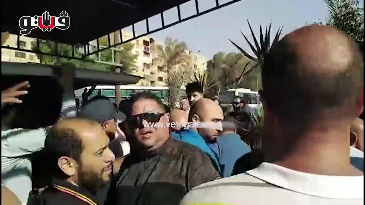 تشييع جثمان والد أحمد حسام ميدو بحضور شيكابالا