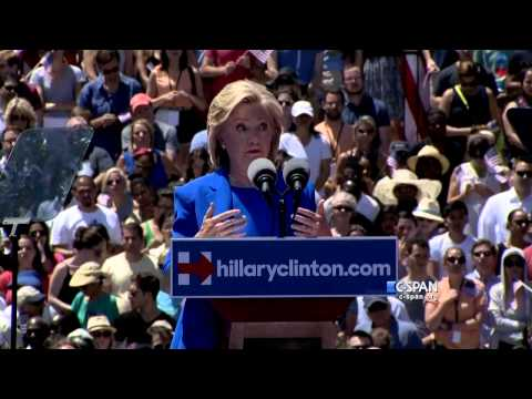 Hillary Clinton Presidential Campaign Announcement Full Speech (C-SPAN)