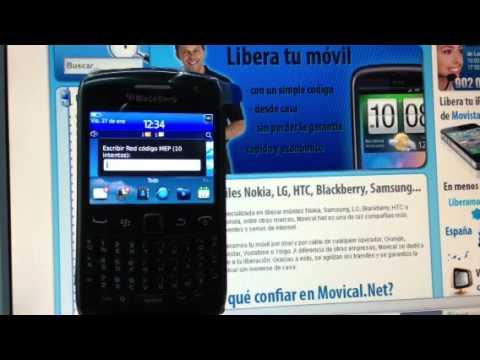 Liberar blackberry 9360 curve de movistar yoigo vodafone - Movical net liberar ...