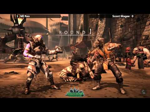 MKX @ Paradise Found - MI Reo (Quan Chi) vs Scoot Magee (Scorpion) [720p/60fps]