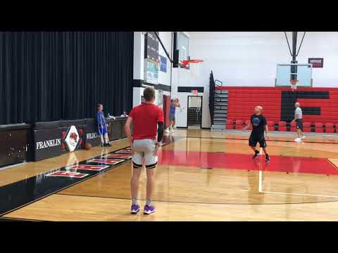 Ohio State basketball commit Justin Ahrens works out with Detroit Pistons guard Luke Kennard