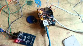 Arduino ethernet shield rfid mysql by Sergey Chekalin