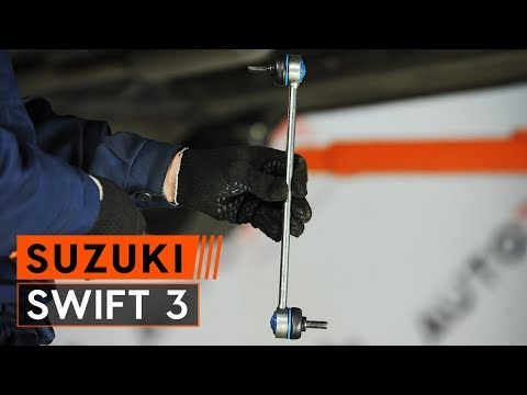 How to replace front anti roll bar link onSUZUKI SWIFT 3 Hatchback[TUTORIAL AUTODOC]