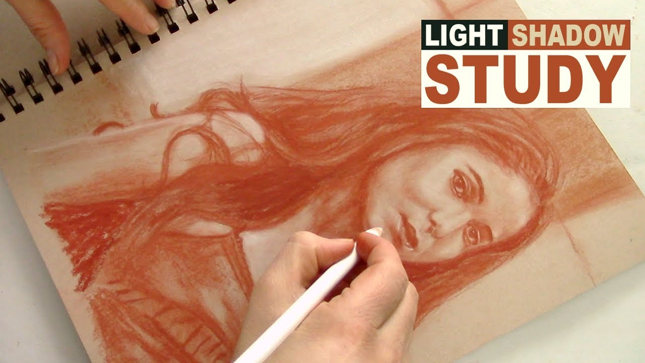 STEP #1 TO REALISTIC PORTRAIT PAINTING: Light & Shadow Drawing Pencil Sketch Study