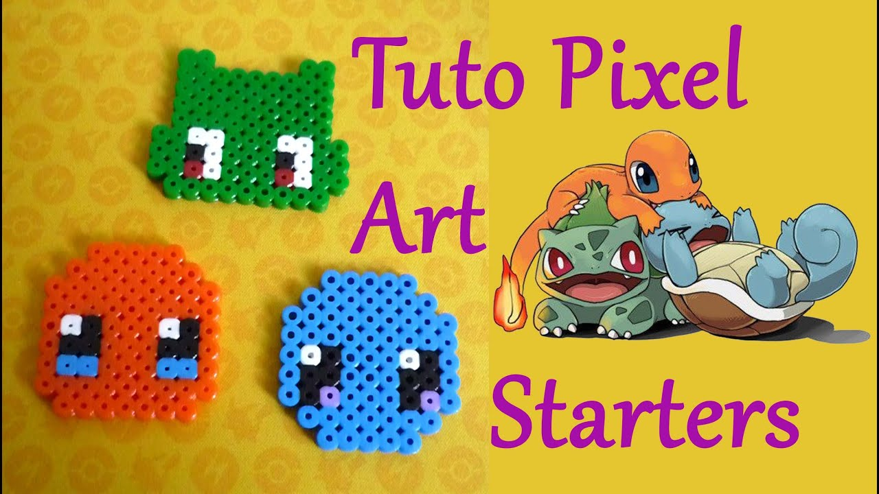 Tuto Pixel Art N5 Facile Starters Salamèche Carapuce Bulbizarre Pokemon