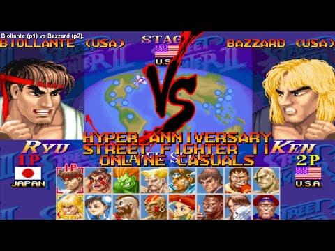 [Fightcade HD] - Hyper Street Fighter II Online Casuals - Biollante (USA) vs. Bazzard (USA)
