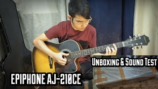 Epiphone AJ-210CE Unboxing and Sound Test (10 Levels of Guitar ft. Daft Punk - Get Lucky)
