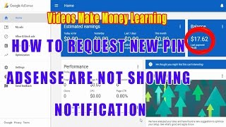 How To Request New Pin Adsense Are Not Showing Notification, How To Get New Pin Code No Notification