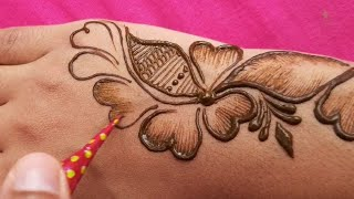special arabic henna mehndi design || bharma easy mehndi design for back hand |shaded mehndi designs