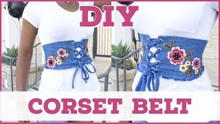 Download Video DIY CORSET BELT FROM SCRATCH || SewAddicts MP3 3GP MP4