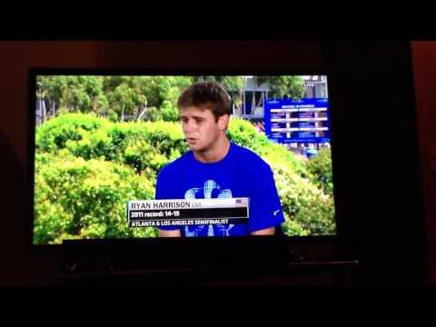 Ryan Harrison interview with Chris Fowler - 2012 Australian