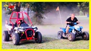 Kruz (Polaris Ace 150) Versus Dada (Polaris 4 Wheeler 110) RACE!!
