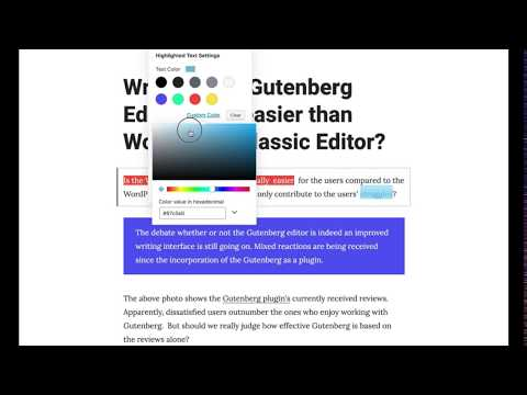 Add color to individual Text within text blocks in Gutenburg