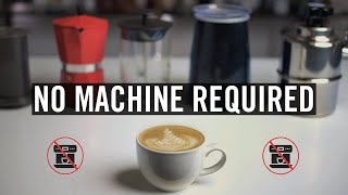 Making Cappuccino/Latte/Flat White at Home (without an Espresso Machine)