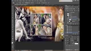 vuclip How To Design Wedding Album Page 1 using Adobe Photoshop CS6 -HD - Skyart Multimedia Soluti
