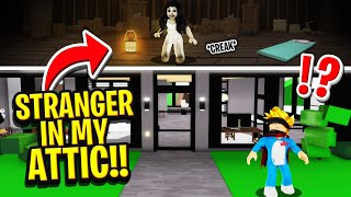 I Found Someone Living In My ATTIC SECRETLY In ROBLOX BROOKHAVEN RP!! (Scary)
