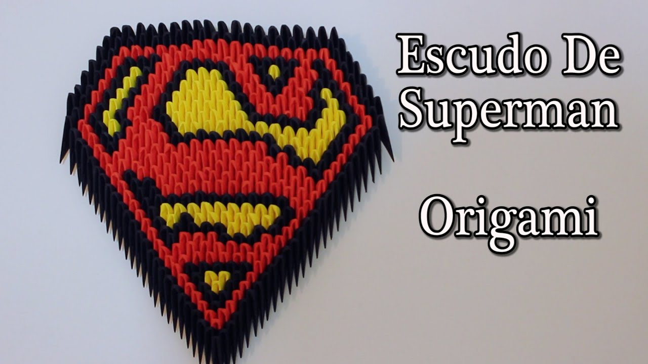 Escudo de superman origami 3d tutorial youtube jeuxipadfo Image collections