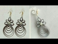 How To Make Paper Earrings Paper Jewellery making DIY Paper Quilling Tutorial