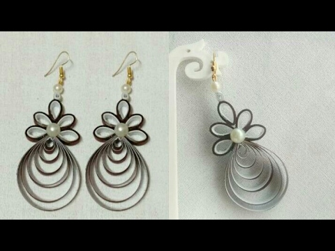 How To Make Paper Earrings // Paper Jewellery making // DIY//Paper Quilling Tutorial