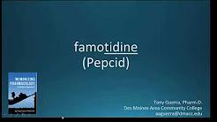 How to pronounce famotidine (Pepcid) (Memorizing Pharmacology Flashcard)