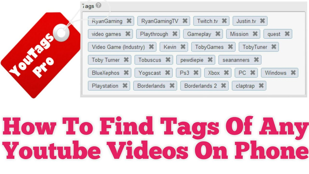 How to find tags of any youtube video on phone,How to get more views on  youtube videos by youtag pro