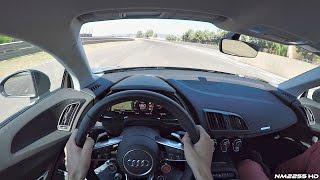 2016 Audi R8 V10 Plus POV Test Drive on Track - Amazing Engine Sound!