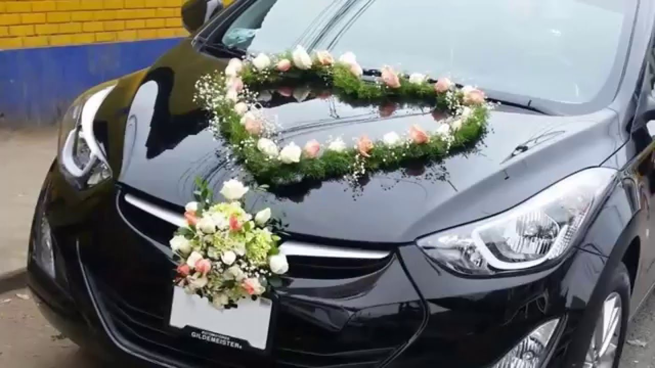 Decoración original para el carros de boda - YouTube