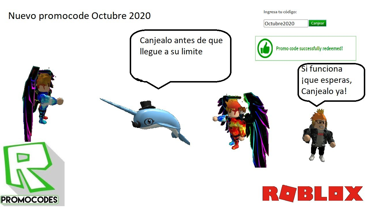 Nuevo Promocode De Roblox 2020 Octubre Nuevo Promocode De Roblox Octubre 2020 Companero De Hombro Narval Youtube
