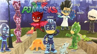 Pj Mask Deluxe Figure Set With 16 Toys: Owlette, Catboy, Gekko, Luna Girl, Romeo