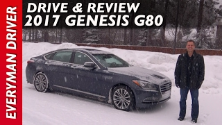 In the Snow: Here's the 2017 Genesis G80 Review on Everyman Driver