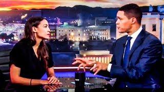 Trevor Noah Concern Trolls Ocasio-Cortez, Can't Fill Jon Stewart's Shoes