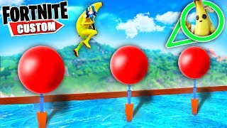 Fortnite NINJA WARRIOR PARKOUR.. Can we BEAT Total WIPEOUT Deathrun?! (Fortnite Creative Mode)