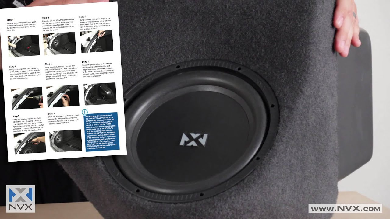 NVX B.O.O.S.T. Subwoofer Bass Package for the Corvette C6