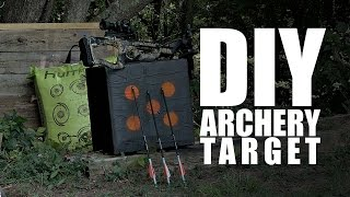 Gambar cover DIY archery target ( It will stop crossbows and compound bows arrows )