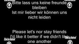 Tokio Hotel - Freunde Bleiben (german/english text)