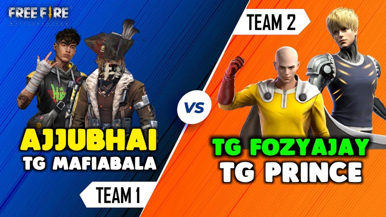 Download Ajjubhai94 and Bala Vs. FozyAjay and Prince eSports Player Op Battle Gameplay - Garena Free Fire