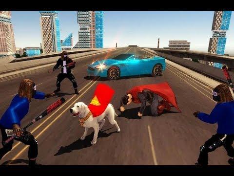 Flying Superhero Dog Hero City Rescue – Dog Games   Android GamePlay