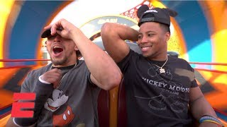 Saquon Barkley and Phillip Lindsay have a blast at Disney Hollywood Studios | 2019 NFL Pro Bowl