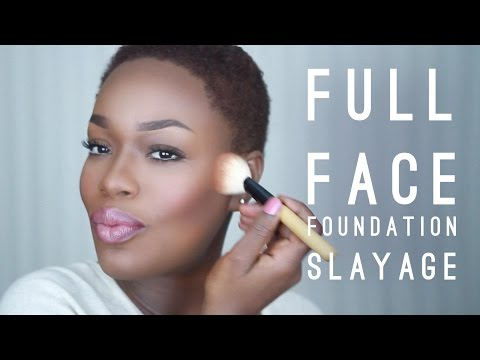 Full Face Dark Skin Foundation Tutorial | Talk Through