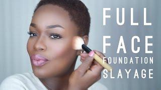 Full Face Dark Skin Foundation Tutorial | Talk Through