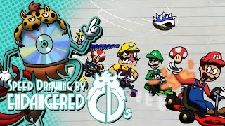 Speed Drawing by CDs - Mario Kart Mayhem (Mario Kart 64)