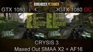 NVidia GTX 1080 Founders Edition Stock VS Overclock | i7 5960X 4.5GHz