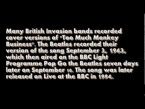 The Beatles Too Much Monkey Business with Lyrics Highest Quality Audio