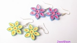 Paper Quilled Flower Earrings Tutorial