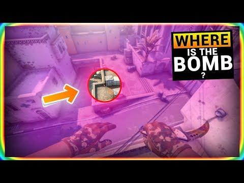 HIDDEN BOMB PLANT SPOTS in CS:GO