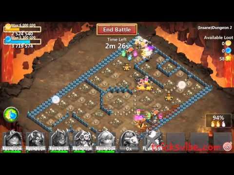 Castle Clash Insane Dungeon 2-1 100%(Unlocking Goblet Of Life Artifact)