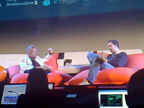 Peter Sunde of The Pirate Bay being interviewed at SIME08