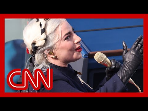 Lady Gaga sings National Anthem at Joe Biden's inauguration