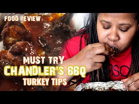 My First Time Eating BBQ Turkey Tips | Chandler's BBQ Food Review
