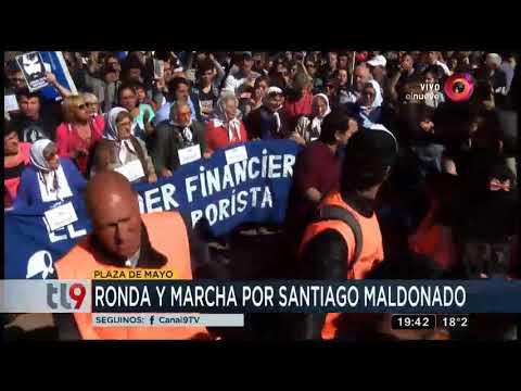 Ronda y marcha por Santiago Maldonado